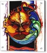 Sun Moon Acrylic Print by Anthony Burks Sr