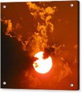 Sun On Fire Acrylic Print