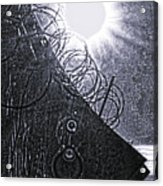 Sun Over Barbed Wire Acrylic Print