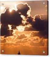Sun Peek Sailboat Acrylic Print