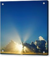 Sun Ray Sunrise Acrylic Print