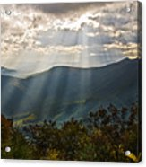 Sun Rays Linville Falls Nc Acrylic Print