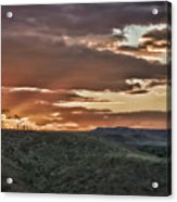 Sun Rays On Colorado Sage Acrylic Print