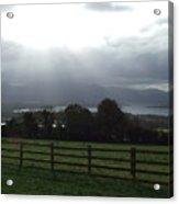 Sun Rays Over Irish Landscape Acrylic Print