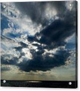 Sun Rays Through Clouds Form A Spot Acrylic Print