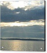 Sun Rays Thru Cloudy Sky Acrylic Print