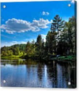 Sun Reflecting On The Moose River Acrylic Print