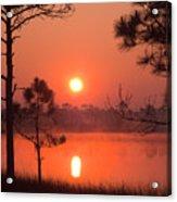 Sun Rise At Red Lake Grayton Beach State Park Florida Acrylic Print