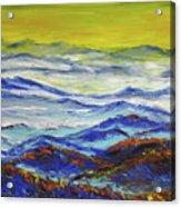 Sun Rise Blue Mountain Acrylic Print