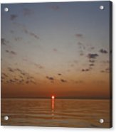 Sun Rise On Lake Michgan Acrylic Print