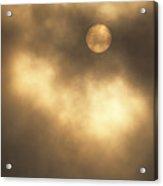 Sun Rising Through Fog Acrylic Print