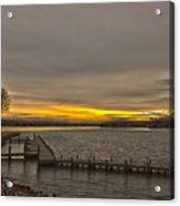 Sun Set At The Lake Acrylic Print