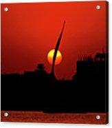 Sun Set Acrylic Print by Chaza Abou El Khair