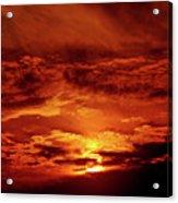 Sun Set II Acrylic Print by Chaza Abou El Khair