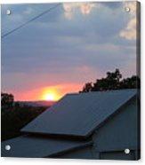 Sun Set On Barn  Acrylic Print