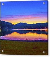 Sun Set On Lake Lure Acrylic Print