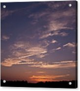 Sun Sets For The Day Acrylic Print