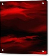 Sun Sets In Red Acrylic Print