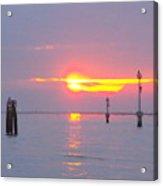 Sun Sets Over Venice II Acrylic Print