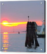 Sun Sets Over Venice Acrylic Print
