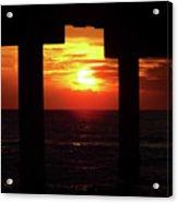 Sun Setting At The Pier Acrylic Print