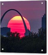 Sun Setting Behind The Arch Acrylic Print