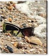 Sun Shades And Sea Shells Acrylic Print