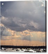 Sun Shines On The Harbor  Acrylic Print