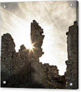 Sun Shining Through A Derelict Building At Occi In Corsica Acrylic Print