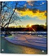 Sun Snow Ice Acrylic Print