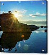 Sun Star Mirror Acrylic Print