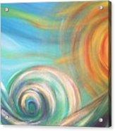 Sun Surf Sky Acrylic Print