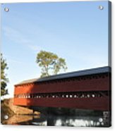 Sun Up At Sachs Covered Bridge Acrylic Print by Bill Cannon