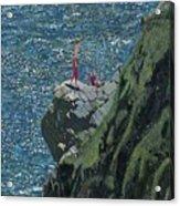 Sunbathers Cornwall Acrylic Print