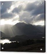 Sunbeams In Glen Affric Acrylic Print