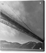Sunbeams Through The Golden Gate Black And White Acrylic Print