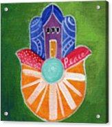 Sunburst Hamsa Acrylic Print