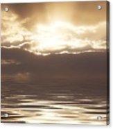 Sunburst Over Water Acrylic Print