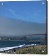 Sunday Afternoon At Golden Gate Bridge Beach Acrylic Print