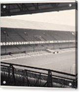 Sunderland - Roker Park - Main Stand 1 - Bw - Leitch - 1960s Acrylic Print
