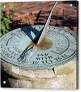 Sundial At Benjamin Harrison Home, Indianapolis, Indiana Acrylic Print