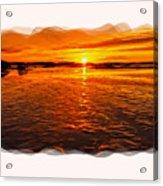 Sundown At Low Tide 2 Acrylic Print
