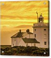 Sundown At The Lighthouse Acrylic Print
