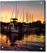 Sundown At The Marina 2 Acrylic Print