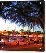 Sundown At The Marina Acrylic Print