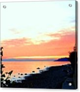 Sundown From West Vancouver Acrylic Print