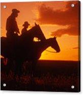 Sundown In Wyoming Acrylic Print