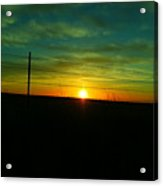 Sundown N The Fenceline Acrylic Print