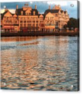 Sundown On The Boardwalk Walt Disney World Acrylic Print