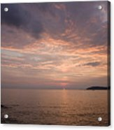 Sundown Over The Adriatic Coastline Acrylic Print